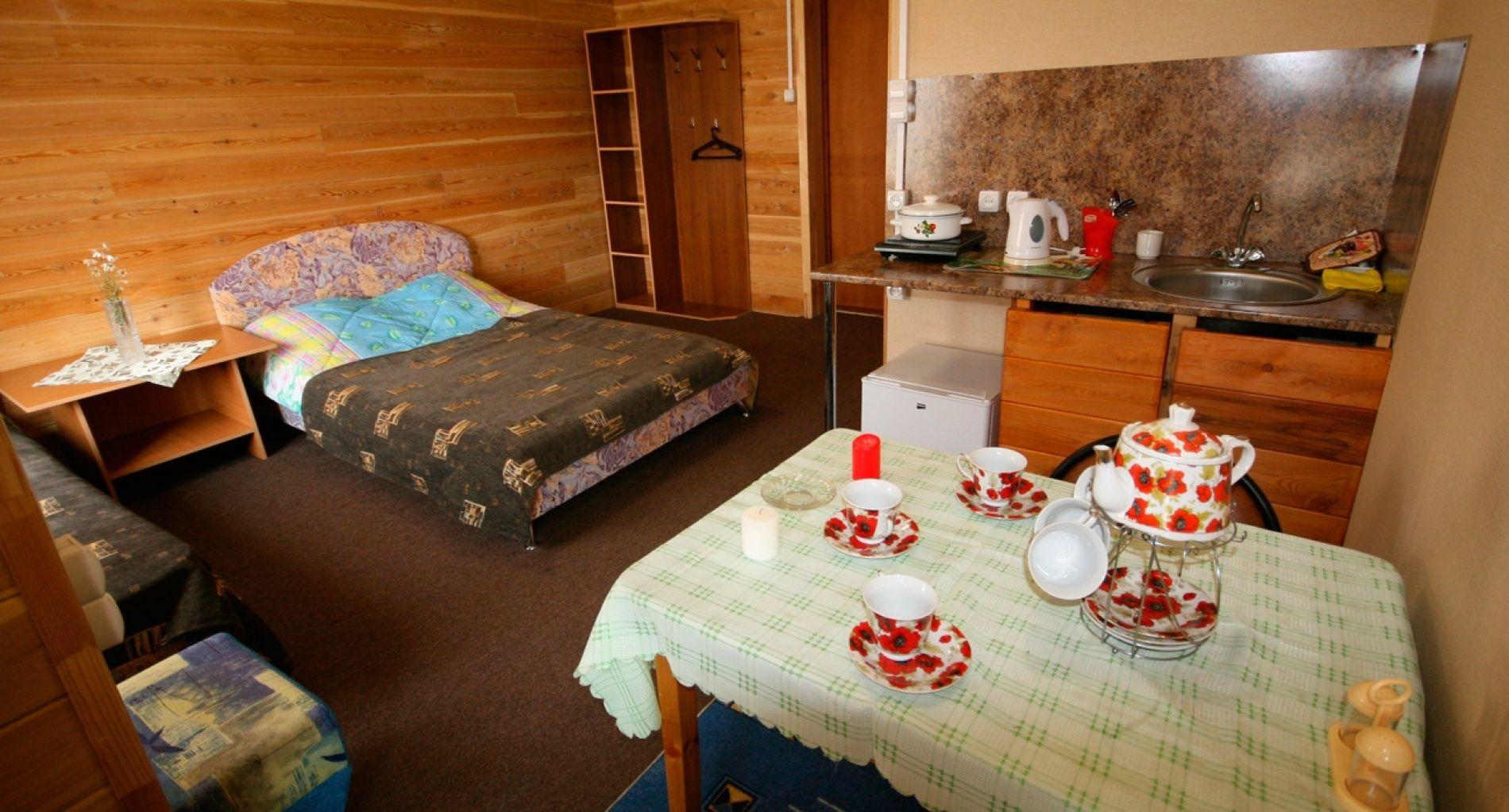 База отдыха «Уюга» Иркутская область Номер «Комната-студия» с кухней, фото 1