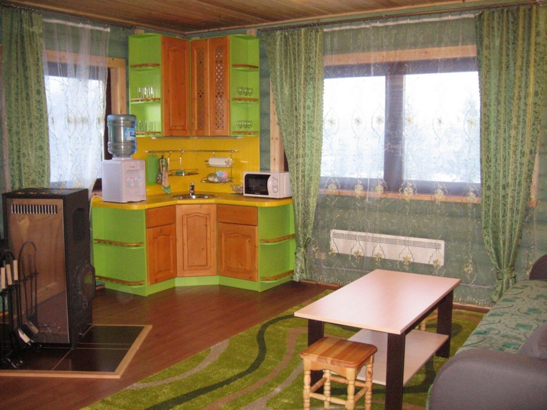 База отдыха «Зеленый Берег» Мурманская область Оливковый домик 4-местный, фото 6