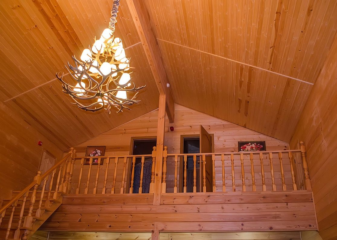 Загородный отель «Лесное озеро» Псковская область Lodge (Большой дом), фото 11