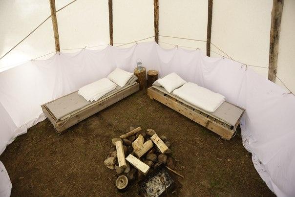 Эко-отель «Лес» Ленинградская область Типи с двумя кроватями, фото 2