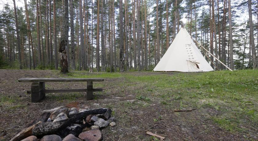 Эко-отель «Лес» Ленинградская область Типи с одной кроватью, фото 1