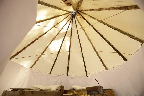 Эко-отель «Лес» Ленинградская область Типи с двумя кроватями, фото 3