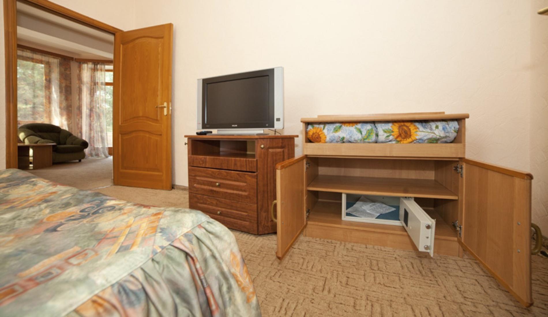 База отдыха «Улыбка» Белгородская область Номер «Люкс 2-комнатный с джакузи» в коттедже, фото 2