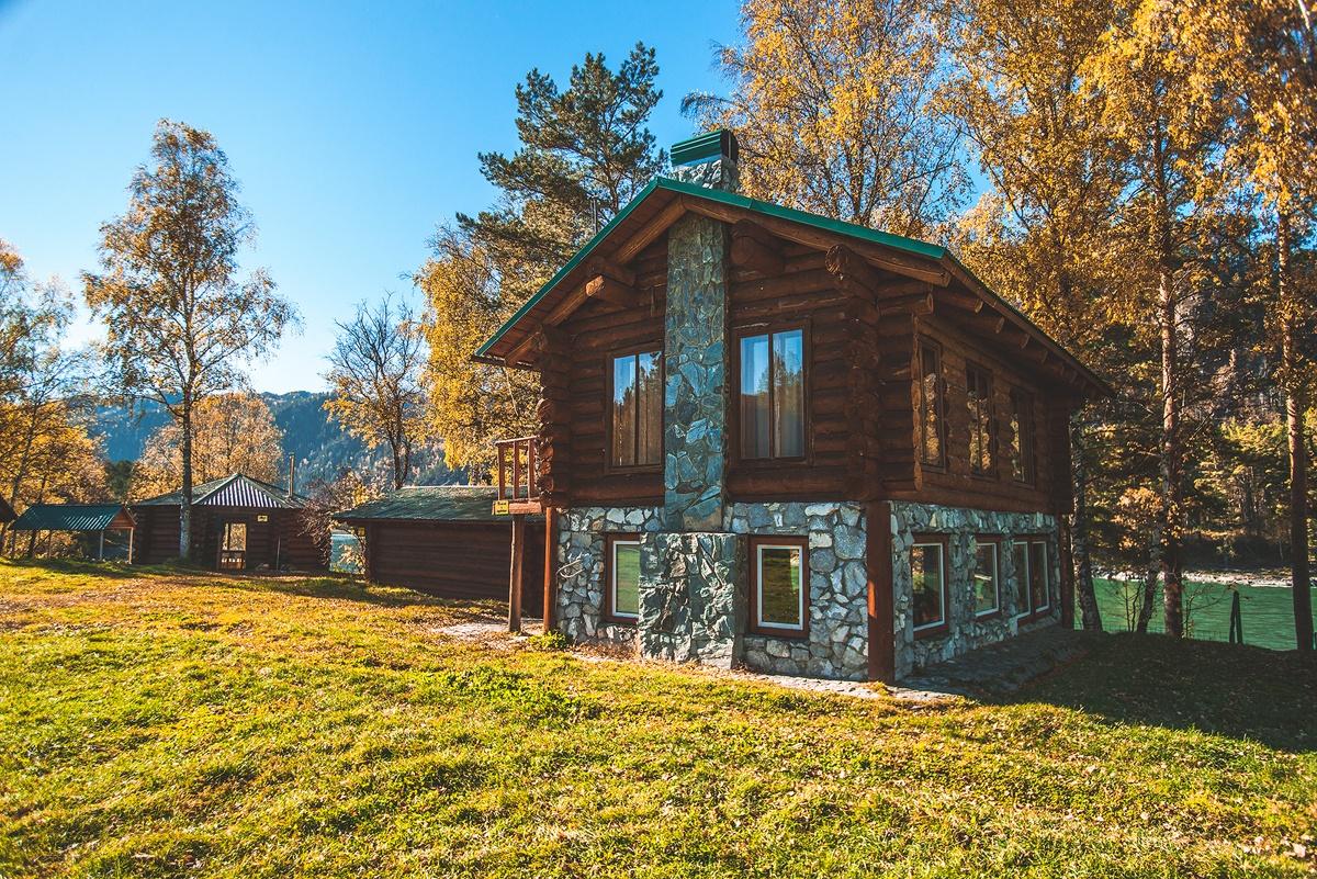 База отдыха «Тихий берег» Республика Алтай «Дом с барбекю», фото 1