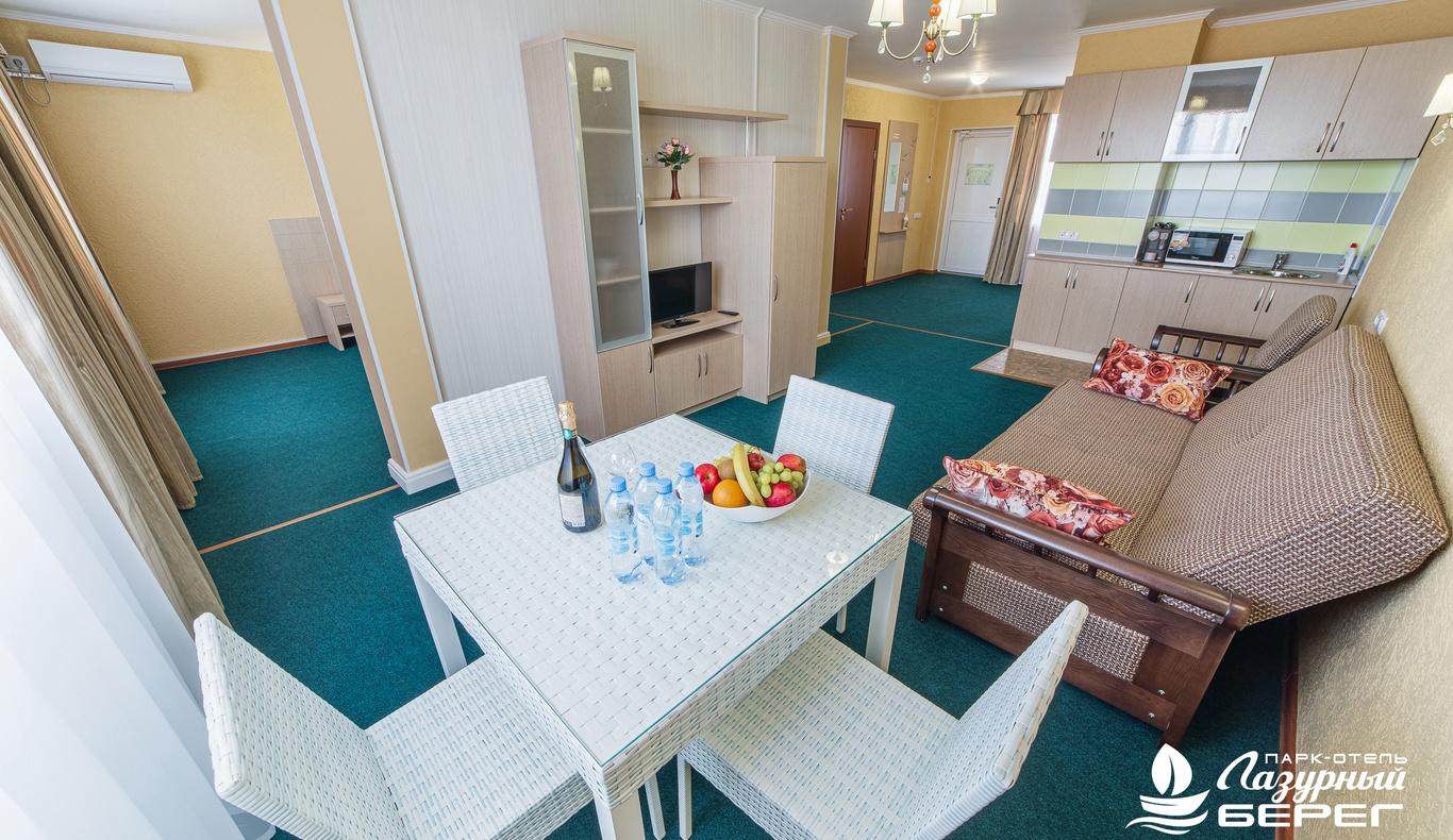 Парк-отель «Лазурный берег» Краснодарский край Студия Сьюит, фото 3