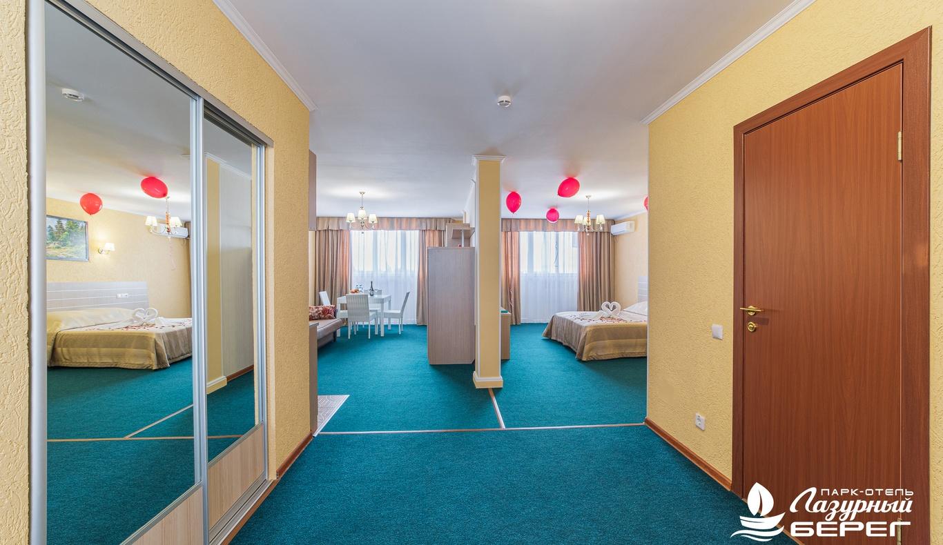 Парк-отель «Лазурный берег» Краснодарский край Студия Сьюит, фото 4