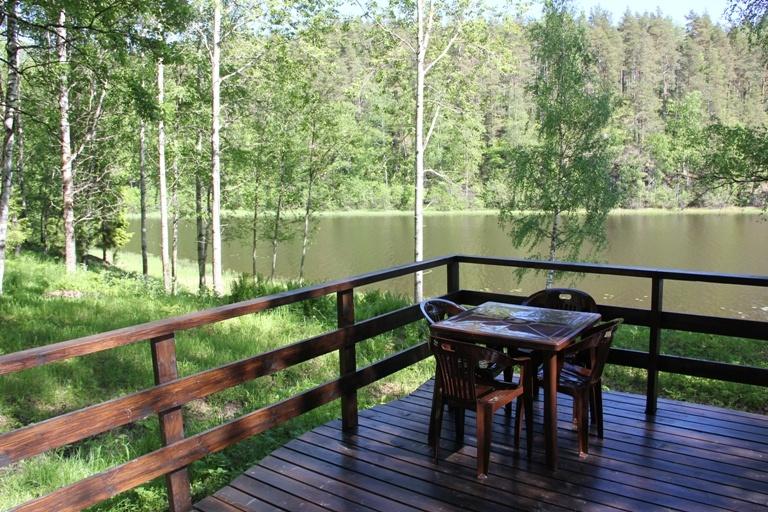 База отдыха «Хутор Салокюля» Республика Карелия Коттедж с камином, террасой и видом на озеро , фото 3