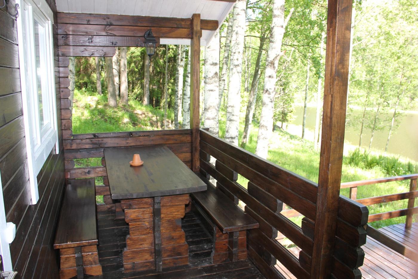 База отдыха «Хутор Салокюля» Республика Карелия Коттедж с камином, террасой и видом на озеро , фото 2